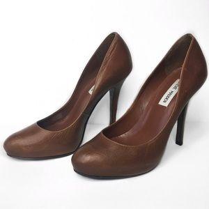 Cognac brown Steve Madden heels